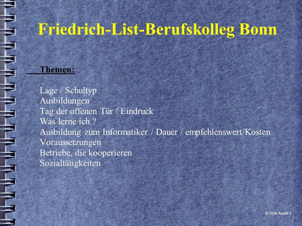 Lage/ Schultyp ● Bonn-Bad-Godesberg ● Plittersdorfer Straße 48 ● 53173 Bonn ● 0228/777200 ● Berufskolleg