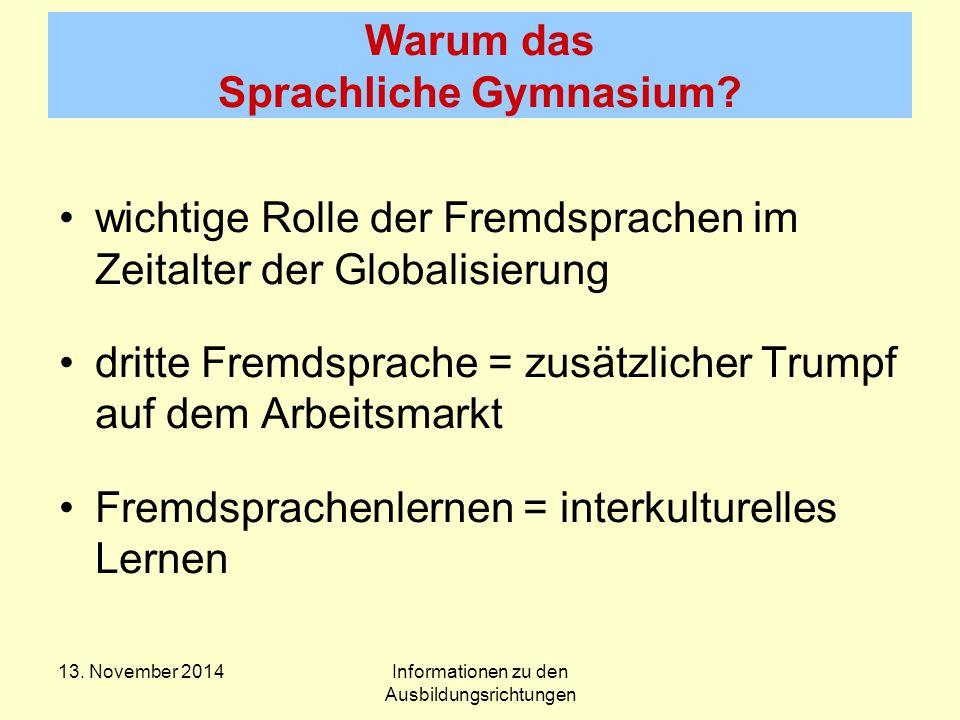 Warum das Sprachliche Gymnasium.