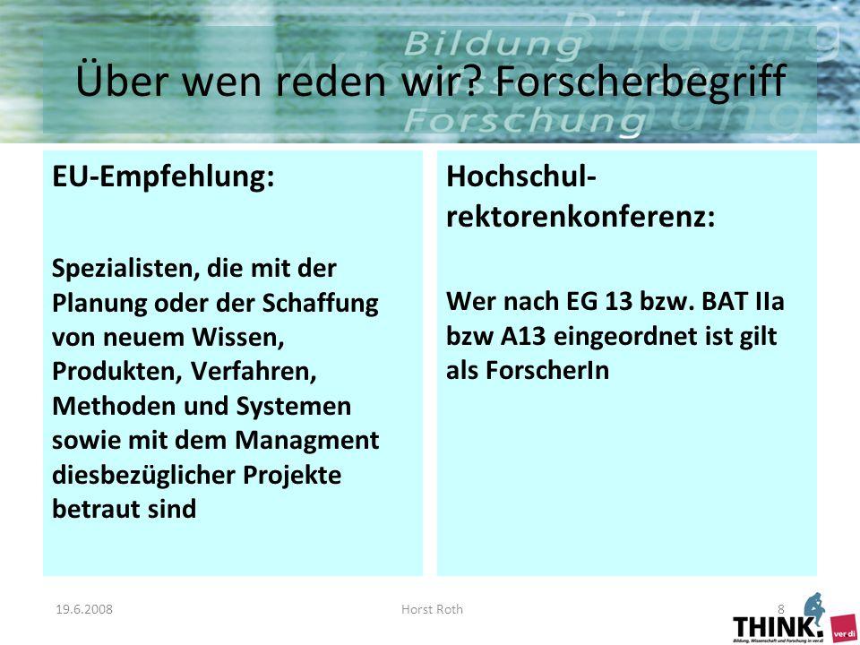 19.6.2008Horst Roth8 Über wen reden wir.