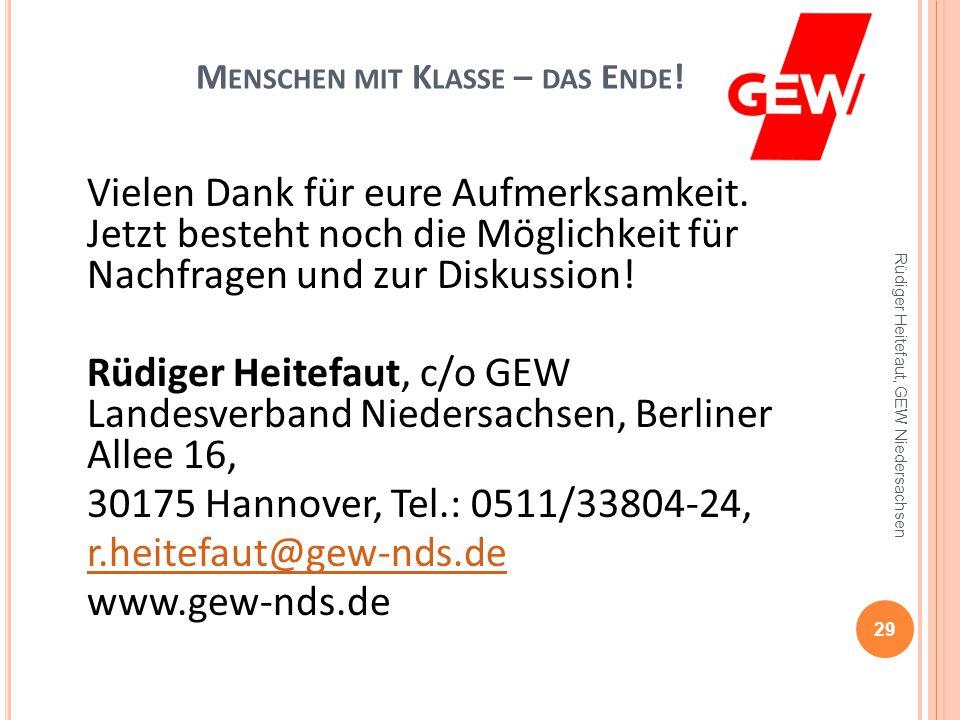 M ENSCHEN MIT K LASSE – DIE GEW VOR O RT .Die GEWerkschaften in Osnabrück und an der Uni: 1.