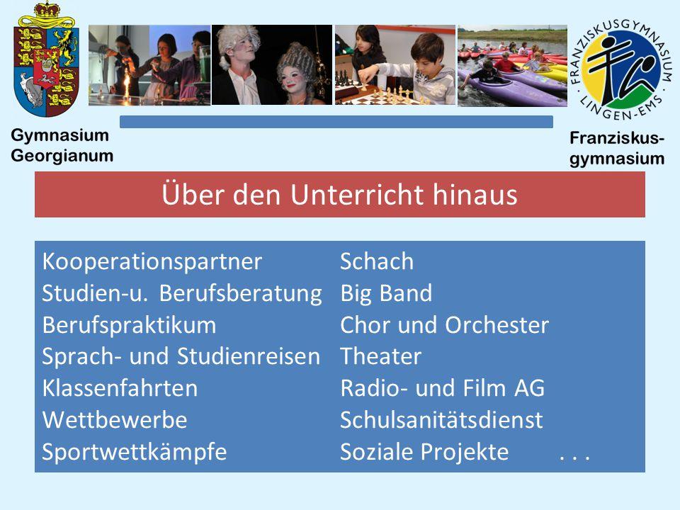 Über den Unterricht hinaus Kooperationspartner Studien-u.