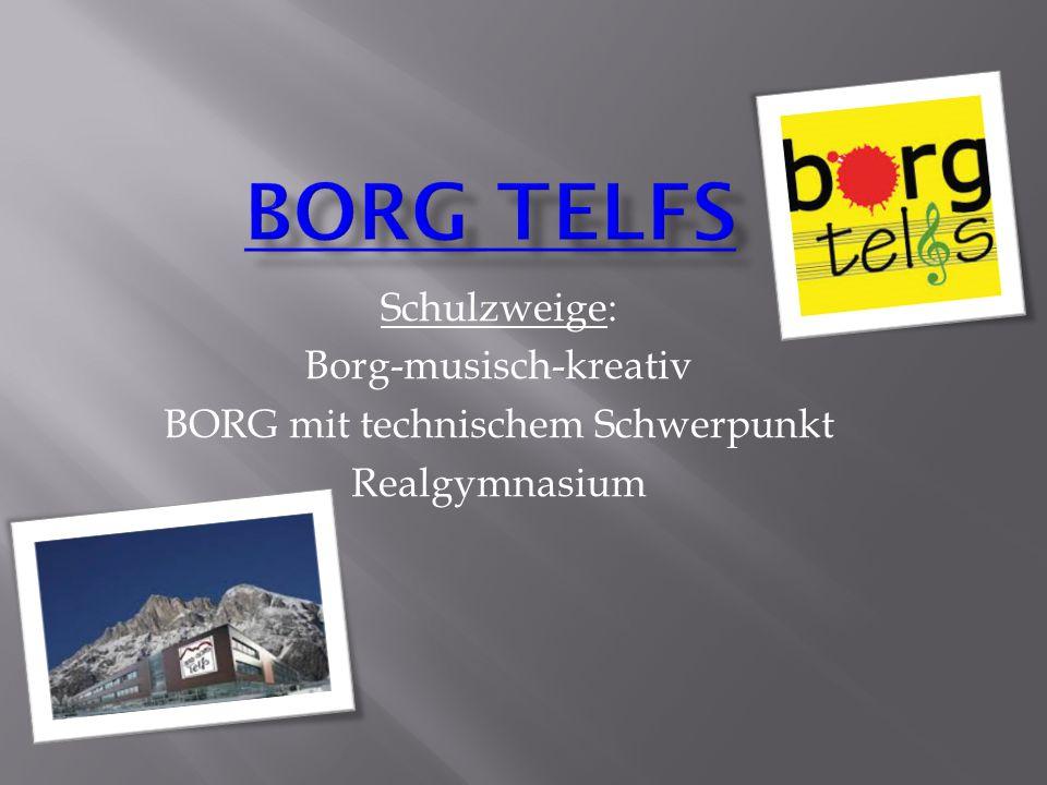 Schulzweige: Borg-musisch-kreativ BORG mit technischem Schwerpunkt Realgymnasium