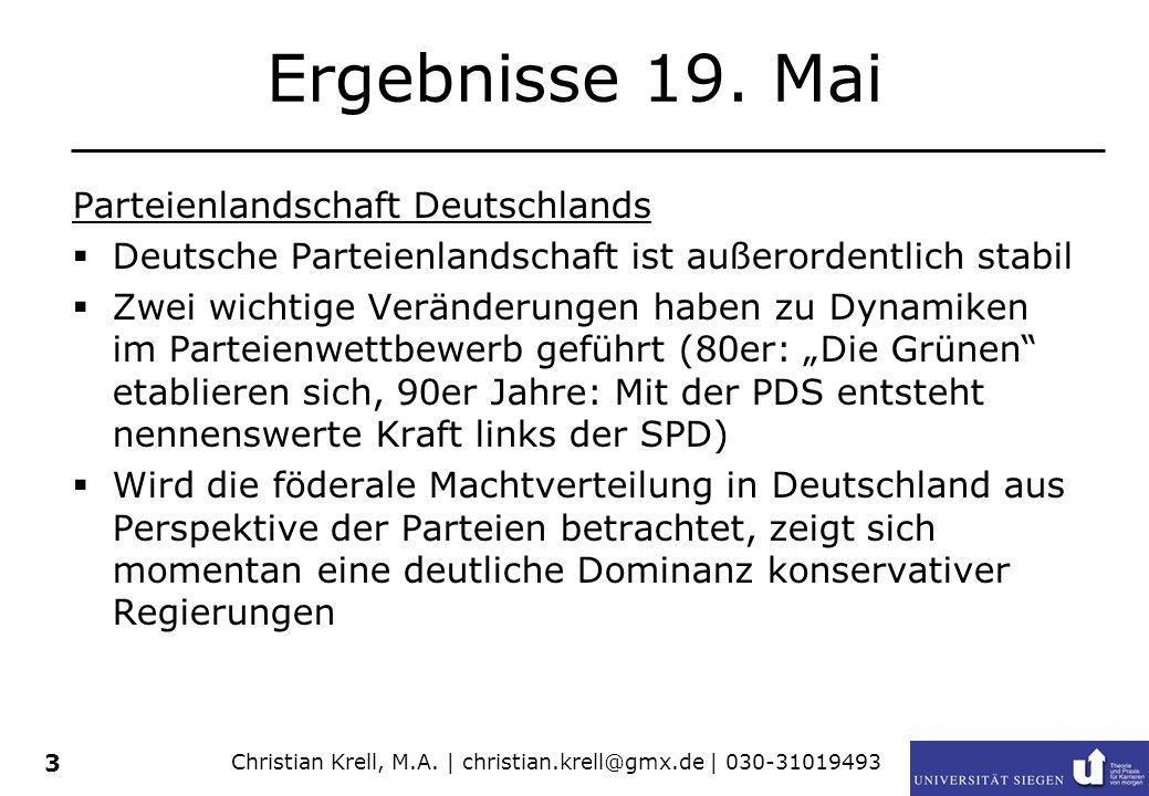 Christian Krell, M.A.| christian.krell@gmx.de | 030-31019493 3 Ergebnisse 19.