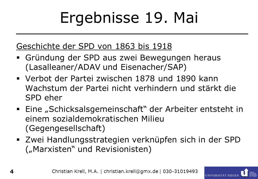 Christian Krell, M.A.| christian.krell@gmx.de | 030-31019493 4 Ergebnisse 19.