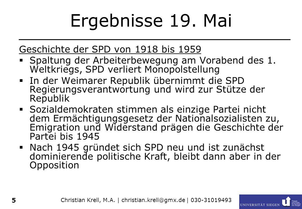 Christian Krell, M.A.| christian.krell@gmx.de | 030-31019493 5 Ergebnisse 19.