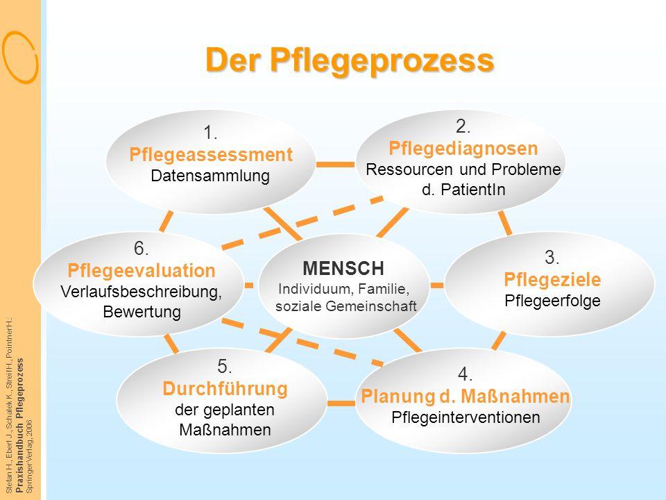 Stefan H., Eberl J., Schalek K., Streif H., Pointner H.: Praxishandbuch Pflegeprozess Springer Verlag, 2006 Der Pflegeprozess 1. Pflegeassessment Date