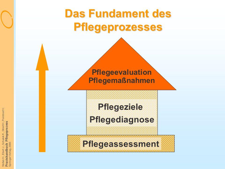 Stefan H., Eberl J., Schalek K., Streif H., Pointner H.: Praxishandbuch Pflegeprozess Springer Verlag, 2006 Das Fundament des Pflegeprozesses Pflegeas