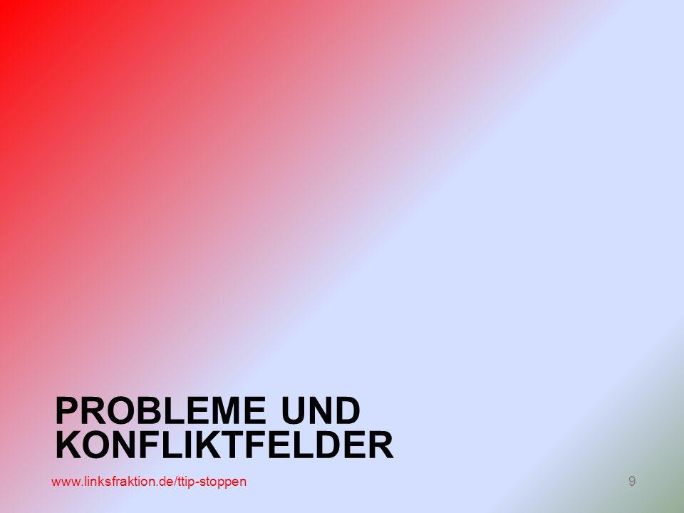 PROBLEME UND KONFLIKTFELDER www.linksfraktion.de/ttip-stoppen9