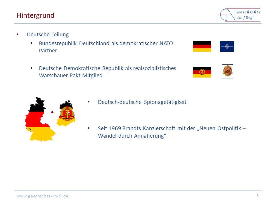 www.geschichte-in-5.de Hintergrund Deutsche Teilung Bundesrepublik Deutschland als demokratischer NATO- Partner Deutsche Demokratische Republik als re