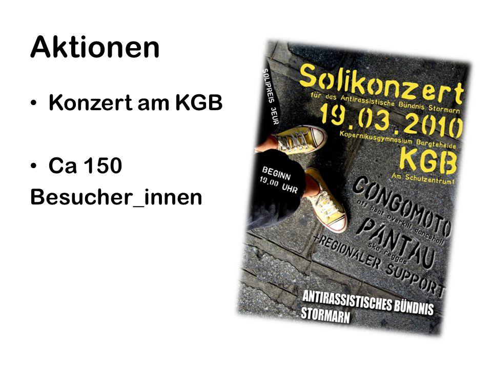 Aktionen Konzert am KGB Ca 150 Besucher_innen