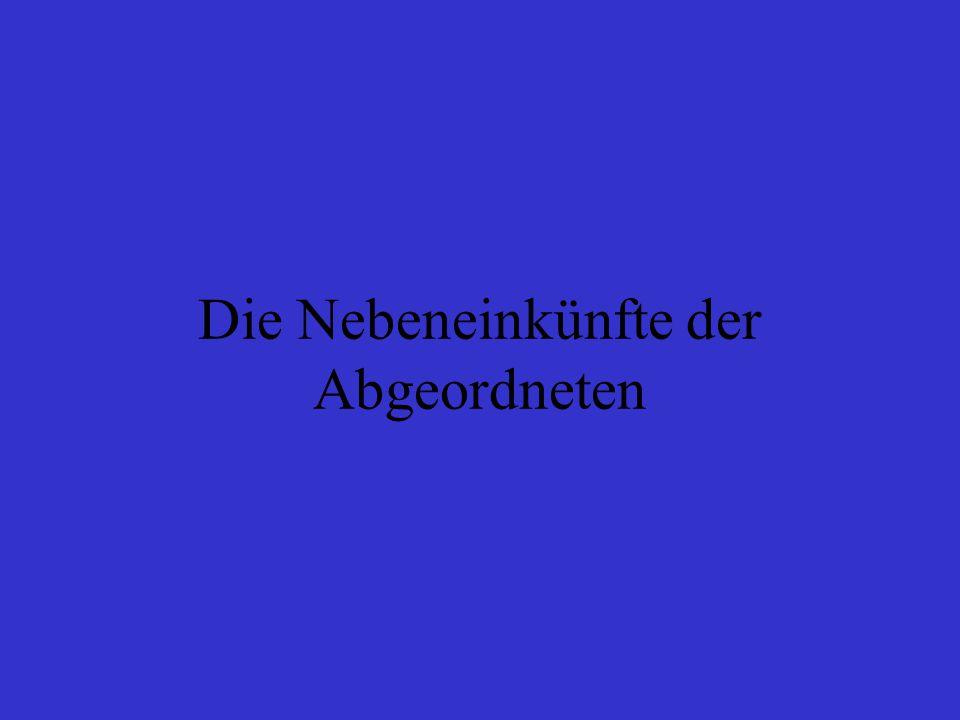 Allgemein In den letzten Wochen sind insgesamt 7 Fälle bekannt geworden, in denen Abgeordnete fragwürdige Angestelltengehälter bezogen haben Zu den Doppelverdienern zählen Abgeordnete des niedersächsischen Landtages und des Bundestages Sie sind bei Volkswagen (VW), Siemens, bei dem Stromkonzern RWE und der Dresdner Bank beschäftigt