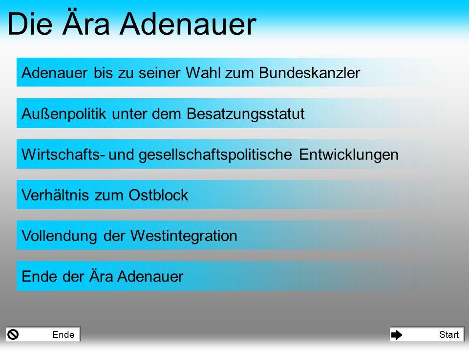 Verlust aller Ämter während der NS-Zeit Präsident des parlamentarischen Rates (1948) Oberbürgermeister von Köln (1945) Oberbürgermeister von Köln (1917) Mitglied des Rheinischen Provinziallandtages (1917) Jurist (1901) 1933-1945 Adenauer bis zu seiner Wahl zum Bundeskanzler Politischer Werdegang *5.1.1876 in Köln während des Kulturkampfes katholische Prägung Mitglied des Zentrums (1906) Präsident des preußischen Staatsrates (1921) Gründungsmitglied der CDU und ihr Vorsitzender in der britischen Besatzungszone (1946) 15.