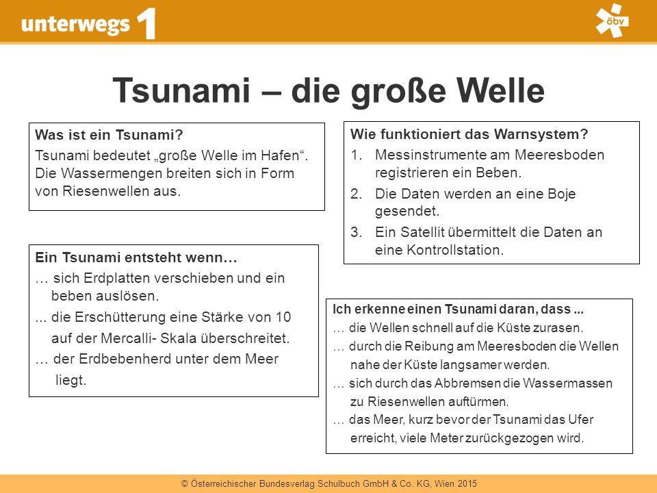 """© Österreichischer Bundesverlag Schulbuch GmbH & Co. KG, Wien 2015 Tsunami – die große Welle Was ist ein Tsunami? Tsunami bedeutet """"große Welle im Haf"""