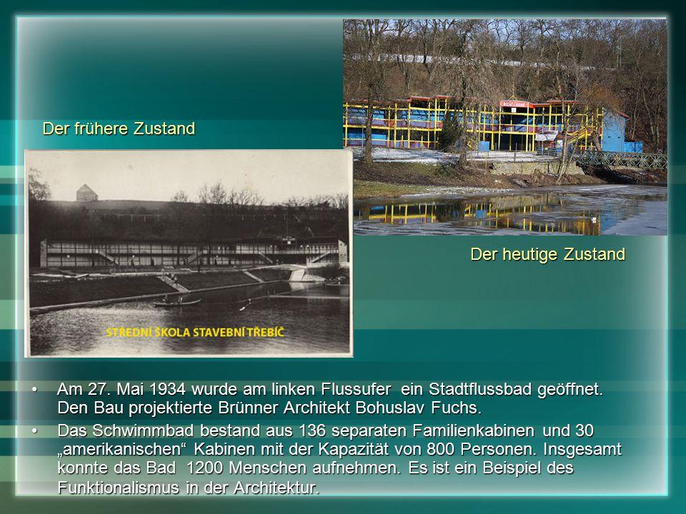 Am 27. Mai 1934 wurde am linken Flussufer ein Stadtflussbad geöffnet.