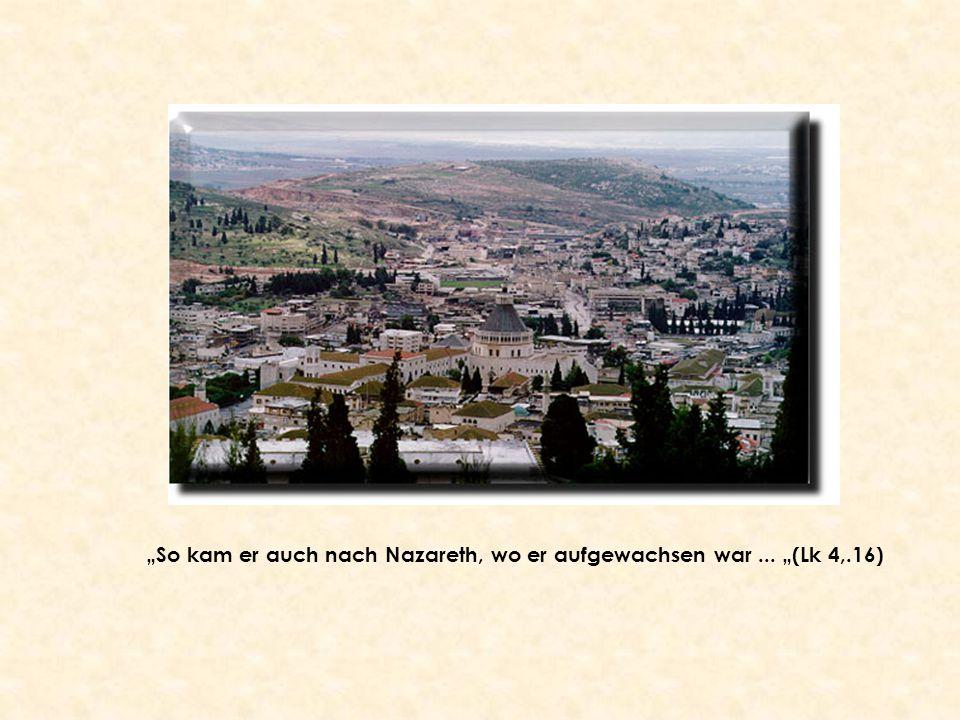 """""""So kam er auch nach Nazareth, wo er aufgewachsen war... """"(Lk 4,.16)"""