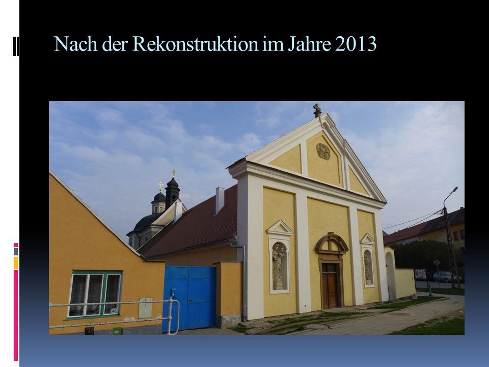 Nach der Rekonstruktion im Jahre 2013