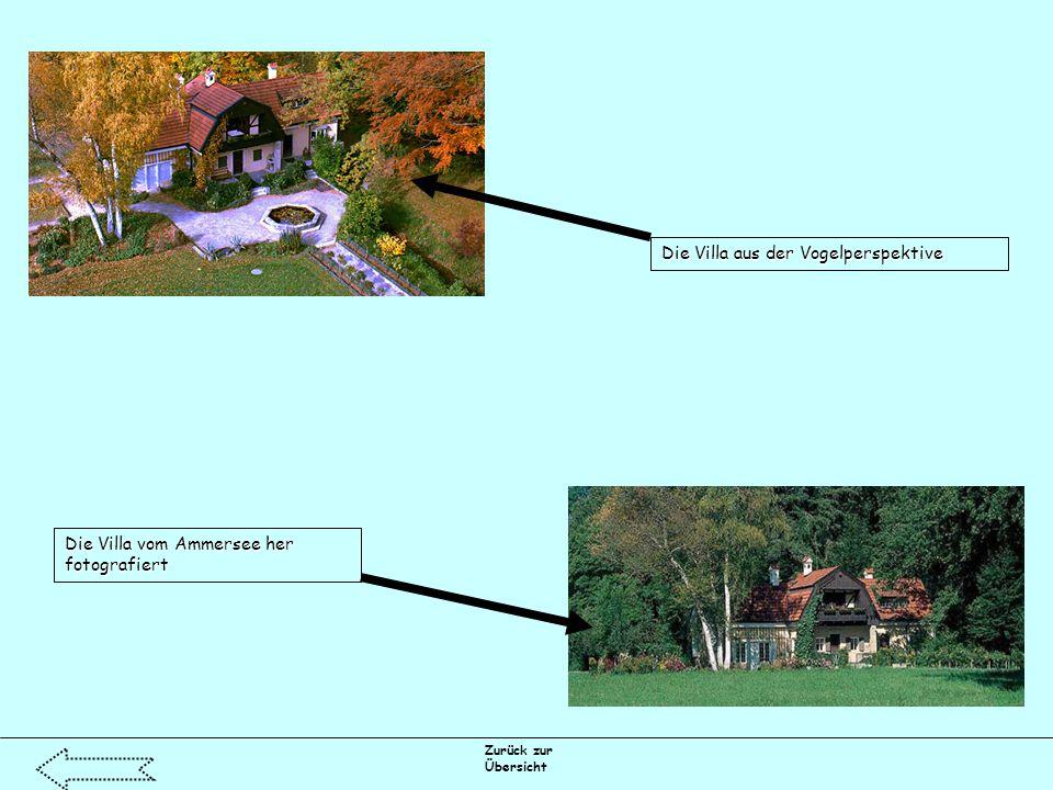 Zurück zur Übersicht Die Villa aus der Vogelperspektive Die Villa vom Ammersee her fotografiert