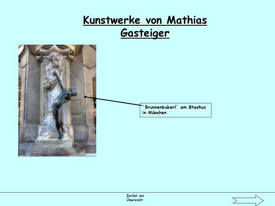 Zurück zur Übersicht Kunstwerke von Mathias Gasteiger `Brunnenbuberl´ am Stachus in München