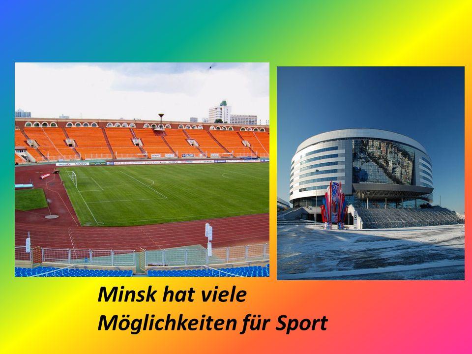 Minsk hat viele Möglichkeiten für Sport