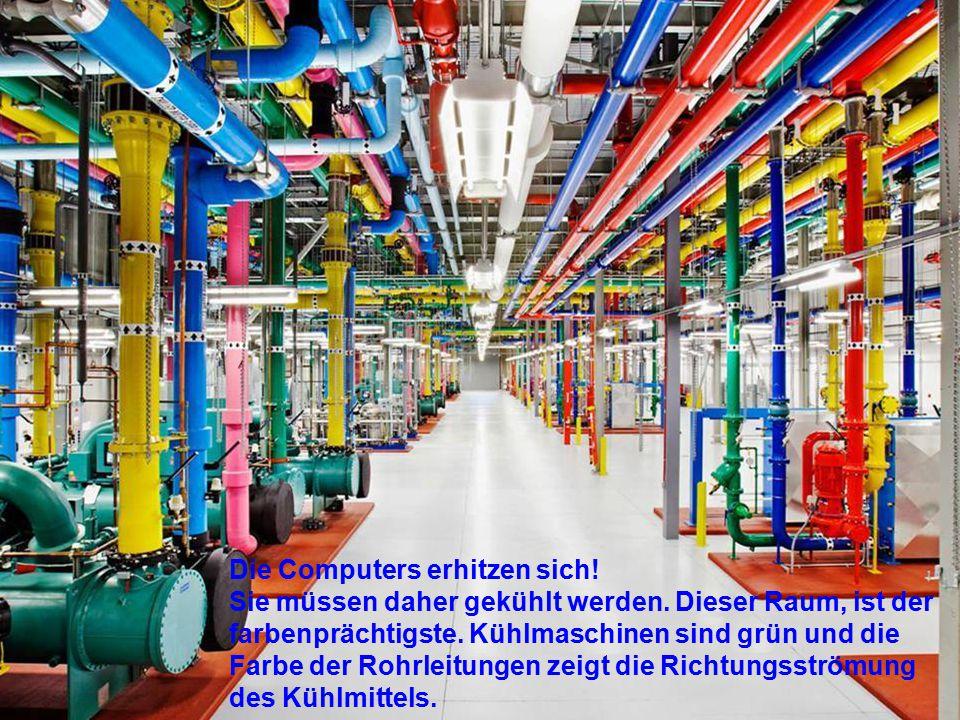 """Der """"Maschinenraum"""" umfasst 10.700 m² - wobei jeder m² eingesetzt wird für Dienste wie Suchen, Youtube etc."""