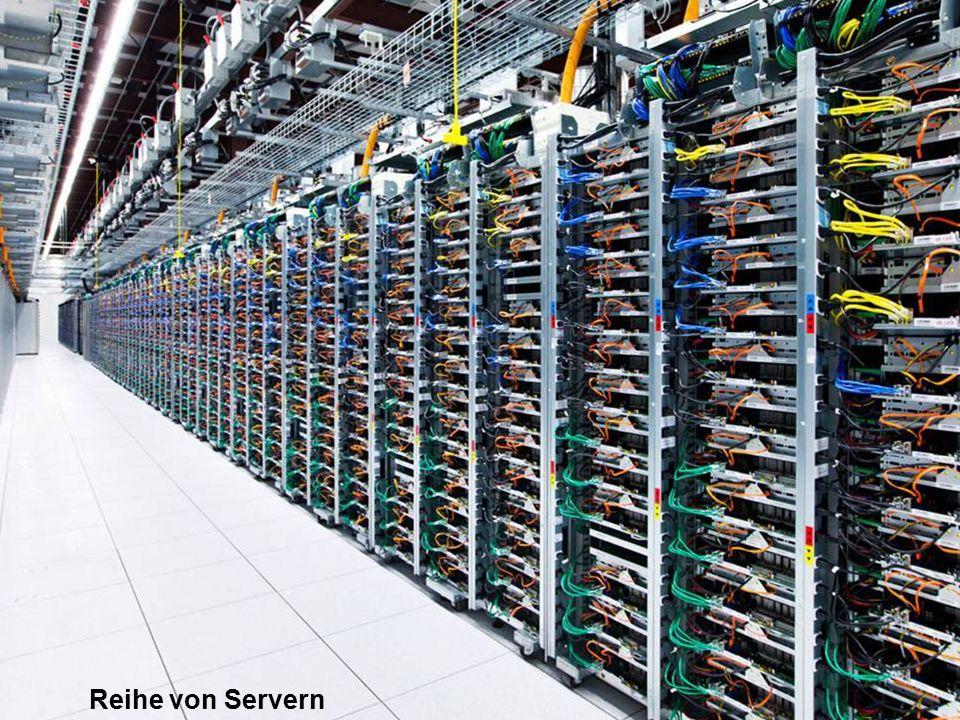 Reihe von Servern