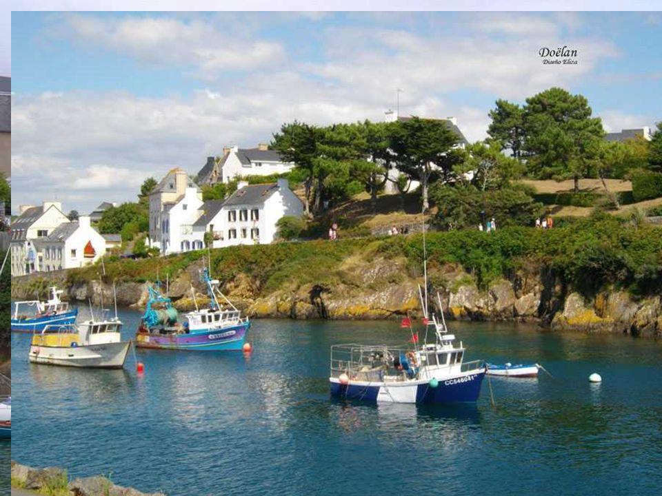 Doëlan Der ideale Hafen, immer bereit und gut aussehend auf den Fotos.