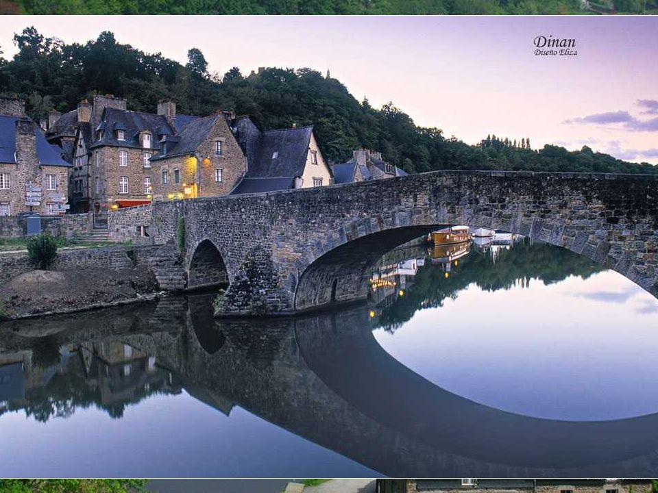 Dinan Mit fast drei Meilen von Wänden, Die Ortschaft Dinan und das Schloss aus dem 14.