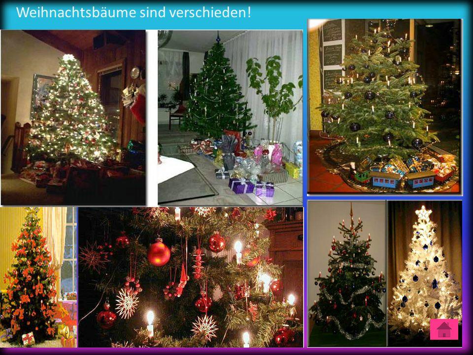 Weihnachtsbäume sind verschieden!