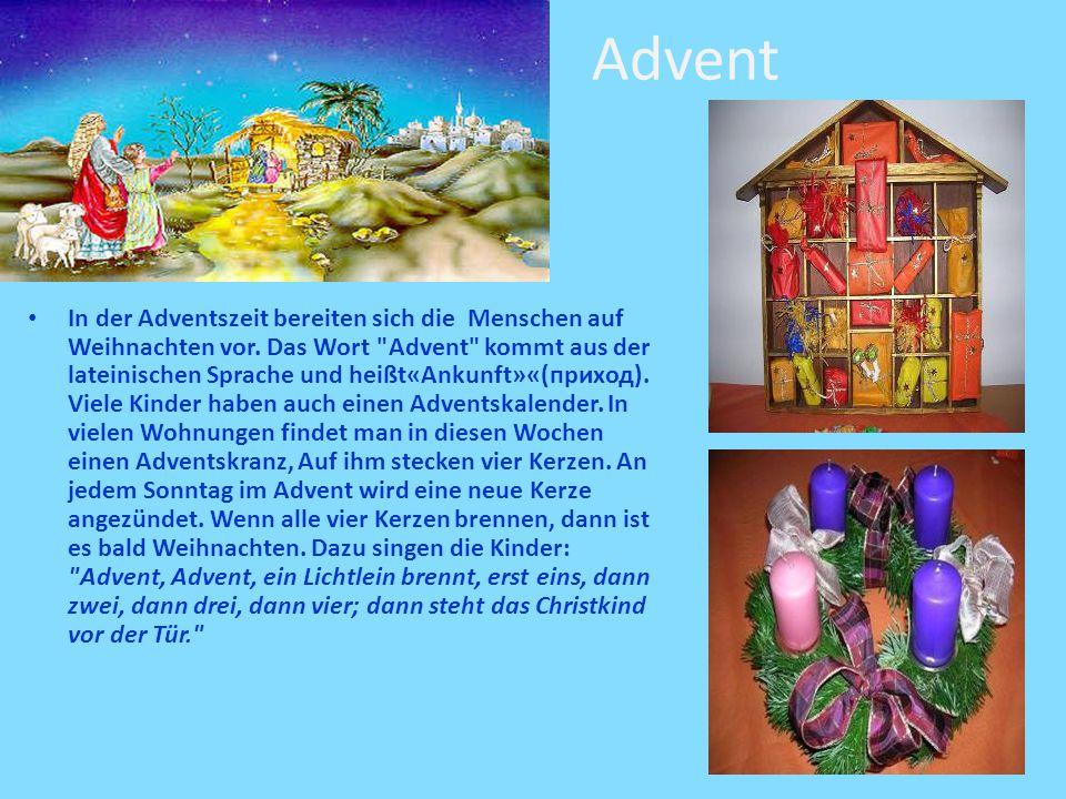 Advent In der Adventszeit bereiten sich die Menschen auf Weihnachten vor.