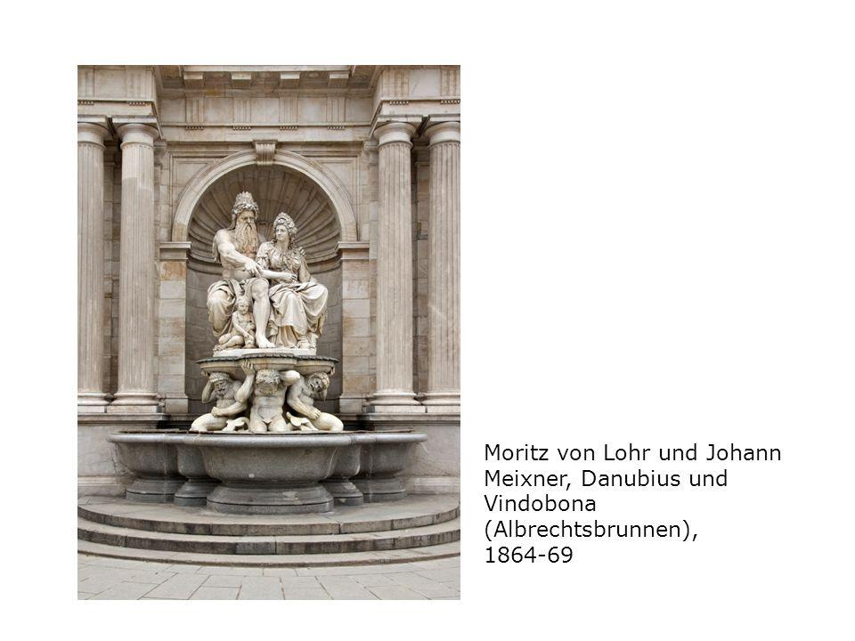Moritz von Lohr und Johann Meixner, Danubius und Vindobona (Albrechtsbrunnen), 1864-69