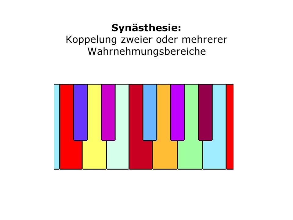 Synästhesie: Koppelung zweier oder mehrerer Wahrnehmungsbereiche