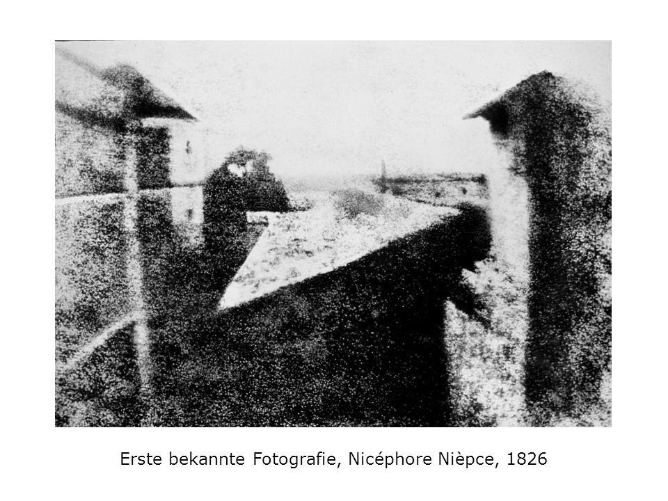 Erste bekannte Fotografie, Nicéphore Nièpce, 1826