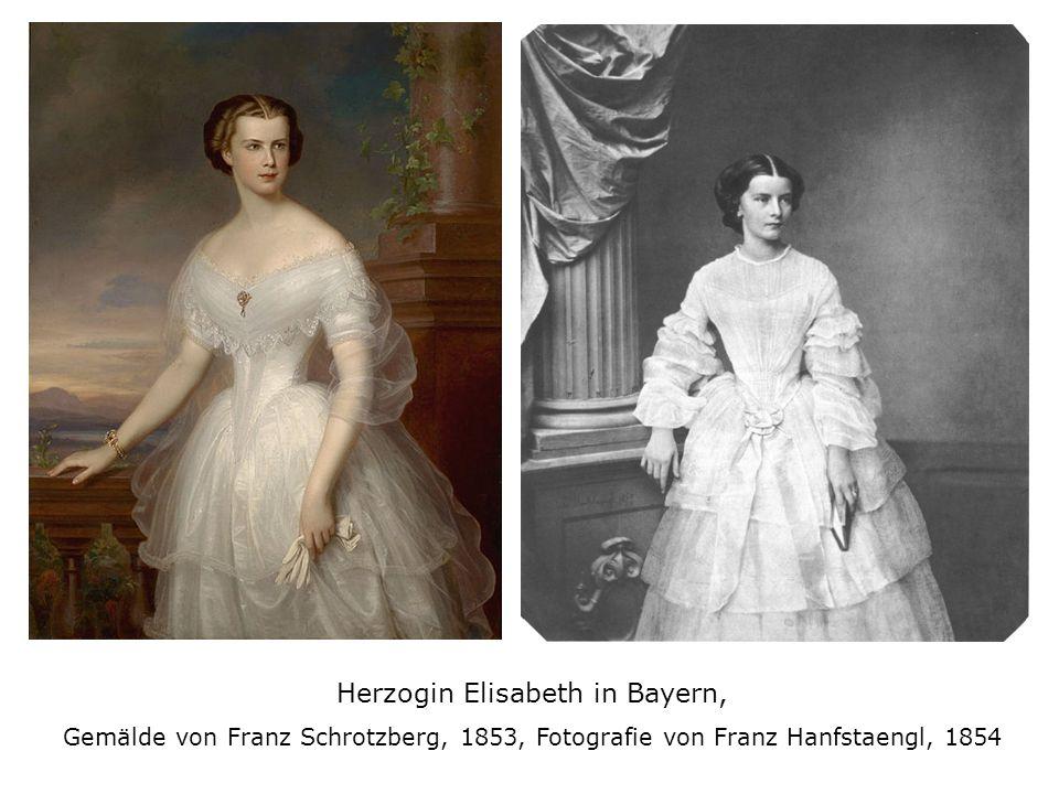 Herzogin Elisabeth in Bayern, Gemälde von Franz Schrotzberg, 1853, Fotografie von Franz Hanfstaengl, 1854