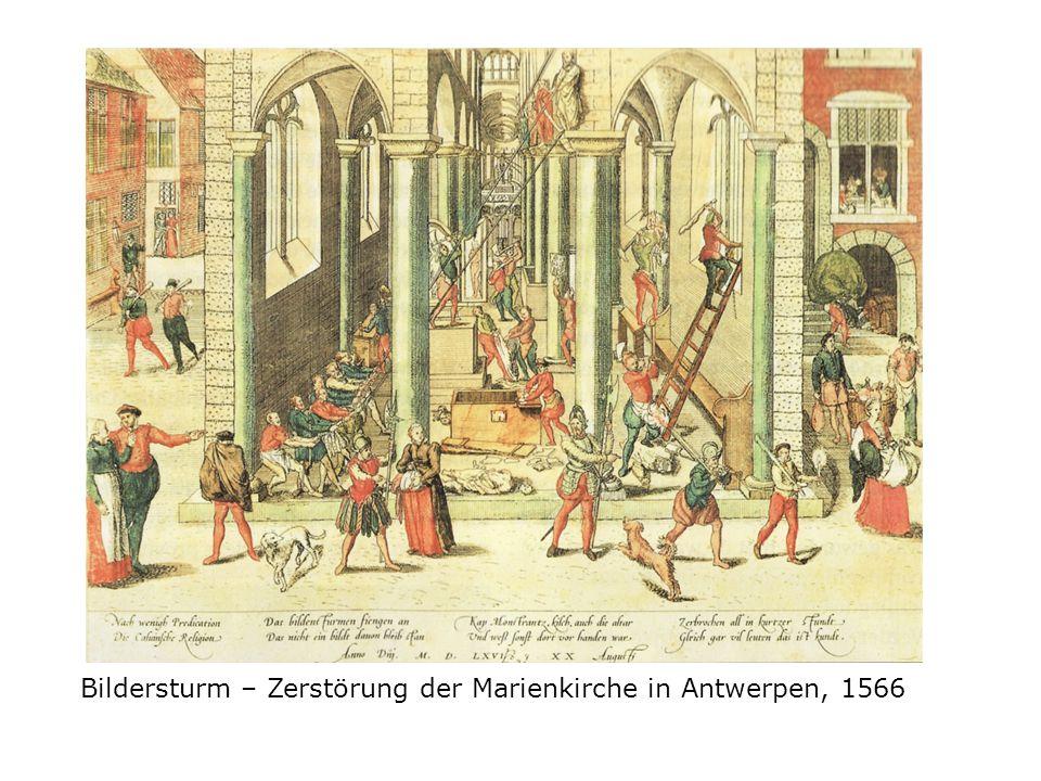 Bildersturm – Zerstörung der Marienkirche in Antwerpen, 1566
