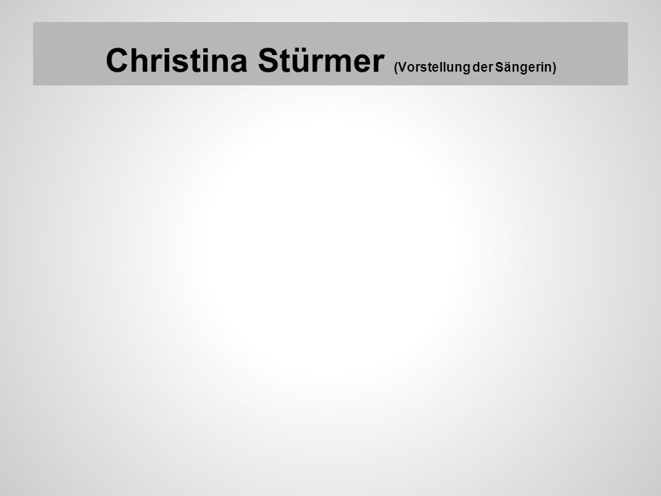 Christina Stürmer (Vorstellung der Sängerin)