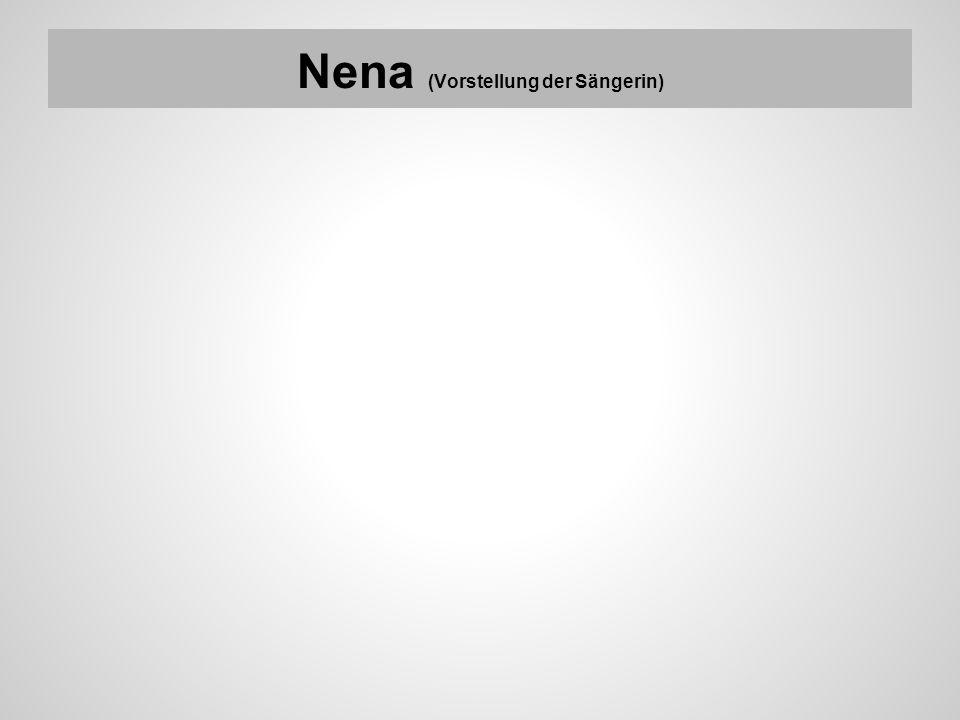 Nena (Vorstellung der Sängerin)