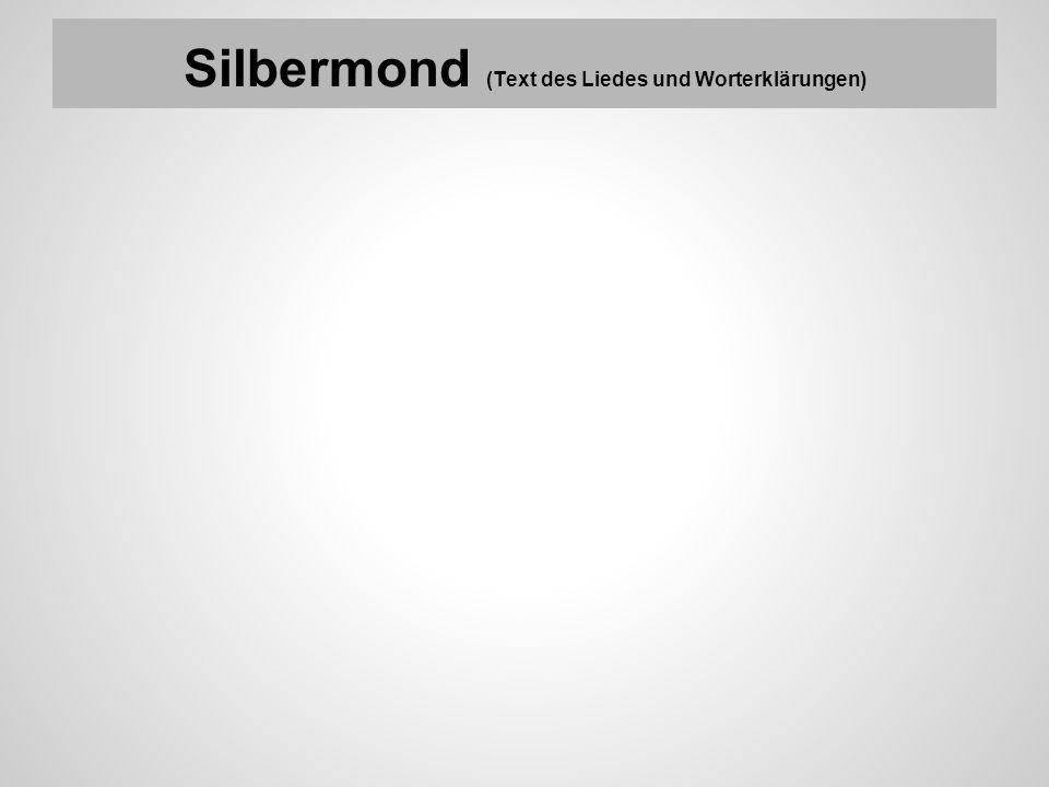 Silbermond (Text des Liedes und Worterklärungen)