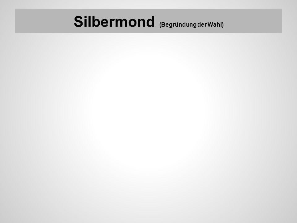 Silbermond (Begründung der Wahl)