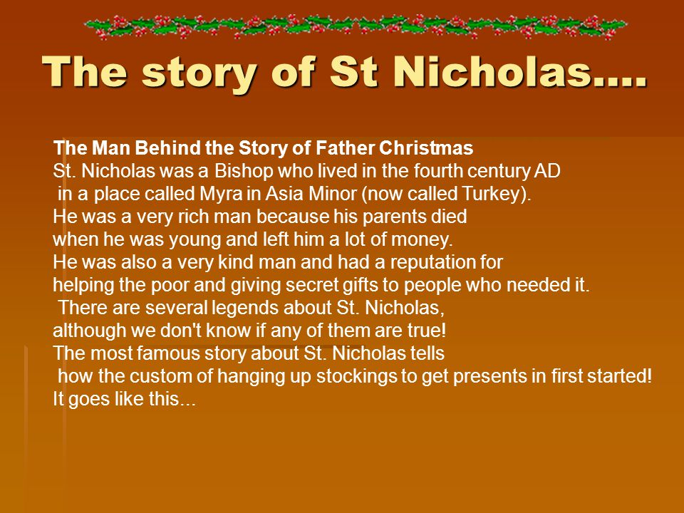 The story of St Nicholas…. The Man Behind the Story of Father Christmas St.