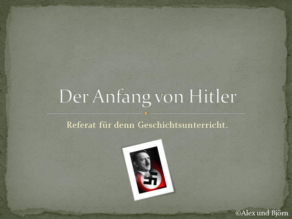 Referat für denn Geschichtsunterricht. ©Alex und Björn