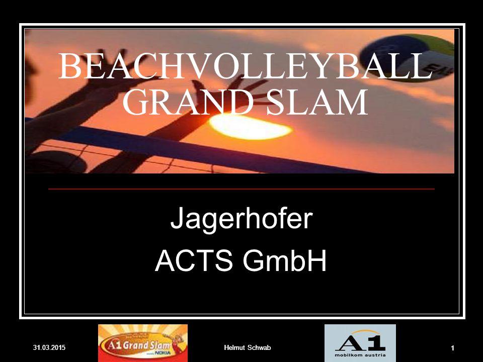 31.03.2015Helmut Schwab 1 31.03.2015Helmut Schwab 1 BEACHVOLLEYBALL GRAND SLAM Jagerhofer ACTS GmbH