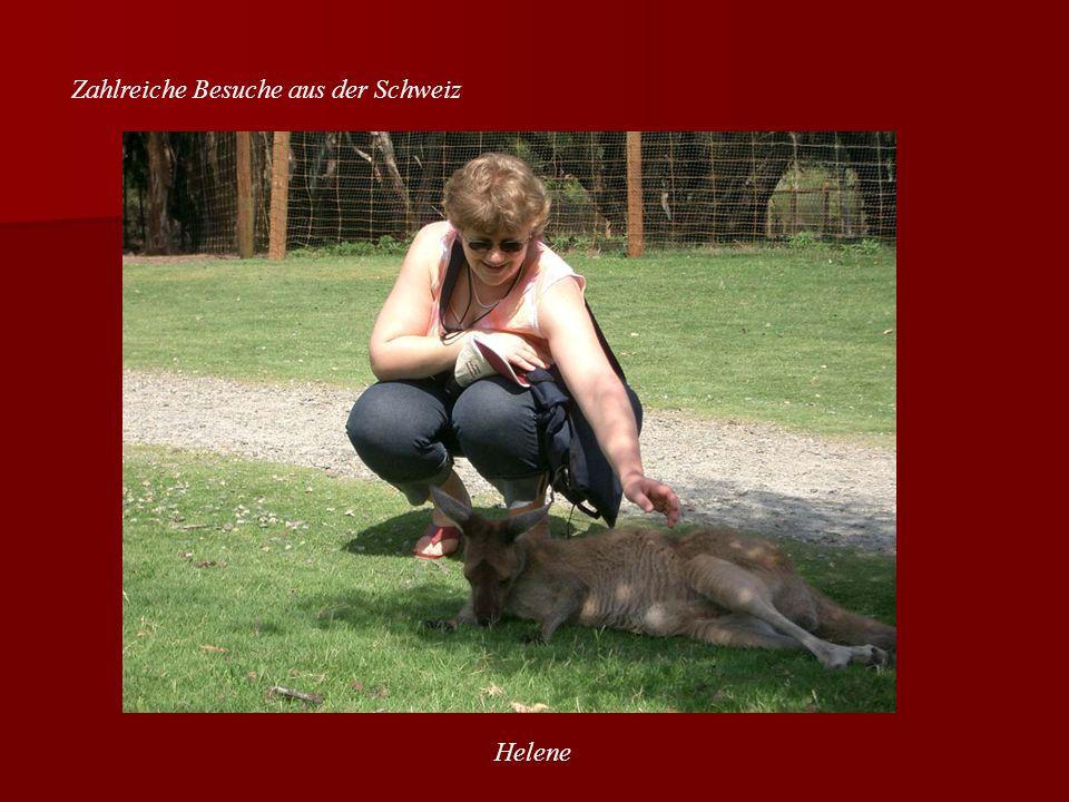 Zahlreiche Besuche aus der Schweiz Helene