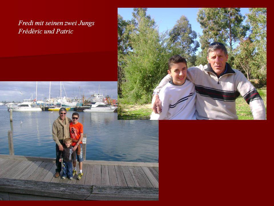 Fredi mit seinen zwei Jungs Frédéric und Patric