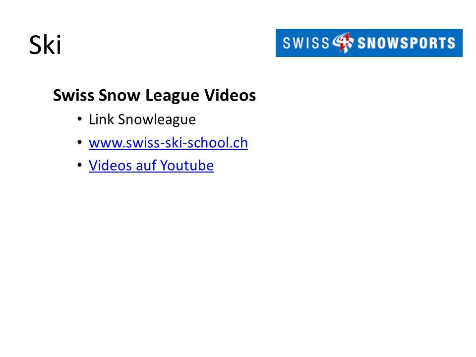 Ski Swiss Snow League Videos Link Snowleague www.swiss-ski-school.ch Videos auf Youtube
