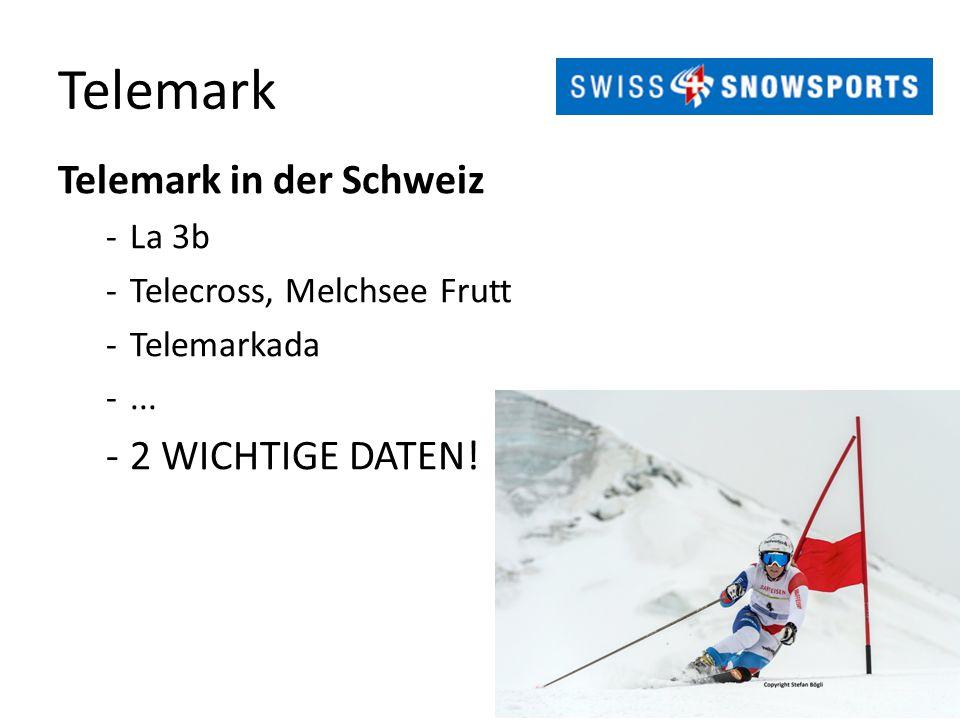 Telemark Telemark in der Schweiz -La 3b -Telecross, Melchsee Frutt -Telemarkada -... -2 WICHTIGE DATEN!