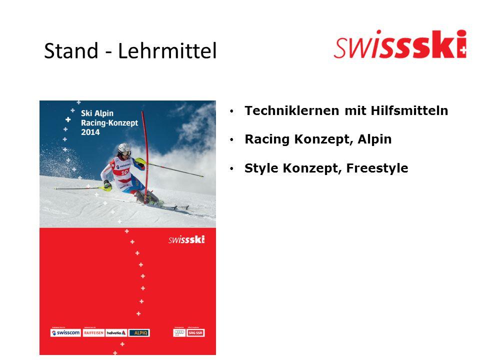 Techniklernen mit Hilfsmitteln Racing Konzept, Alpin Style Konzept, Freestyle Stand - Lehrmittel