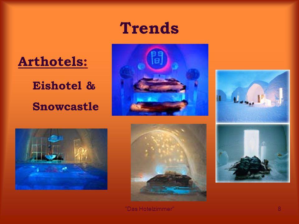 Das Hotelzimmer 8 Trends Arthotels: Eishotel & Snowcastle