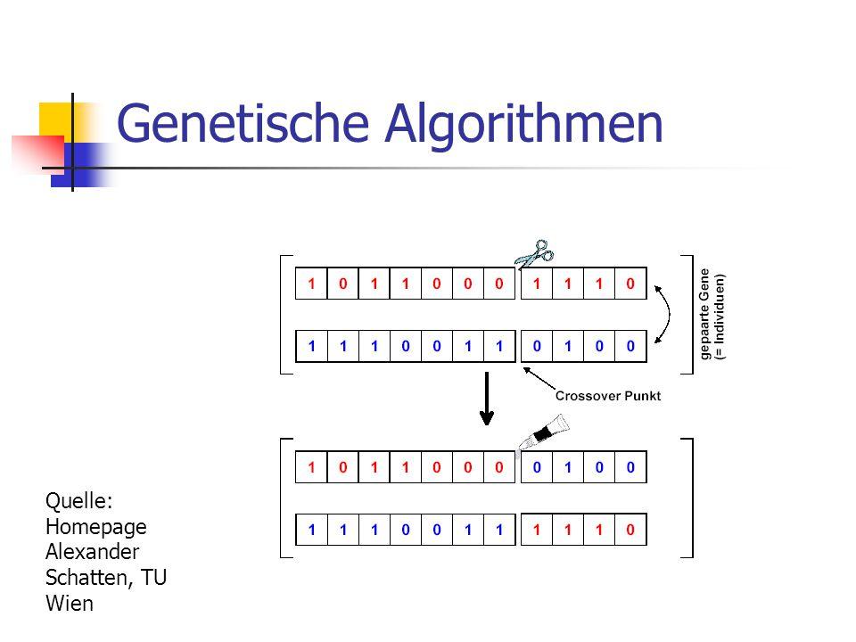 Genetische Algorithmen Quelle: Homepage Alexander Schatten, TU Wien