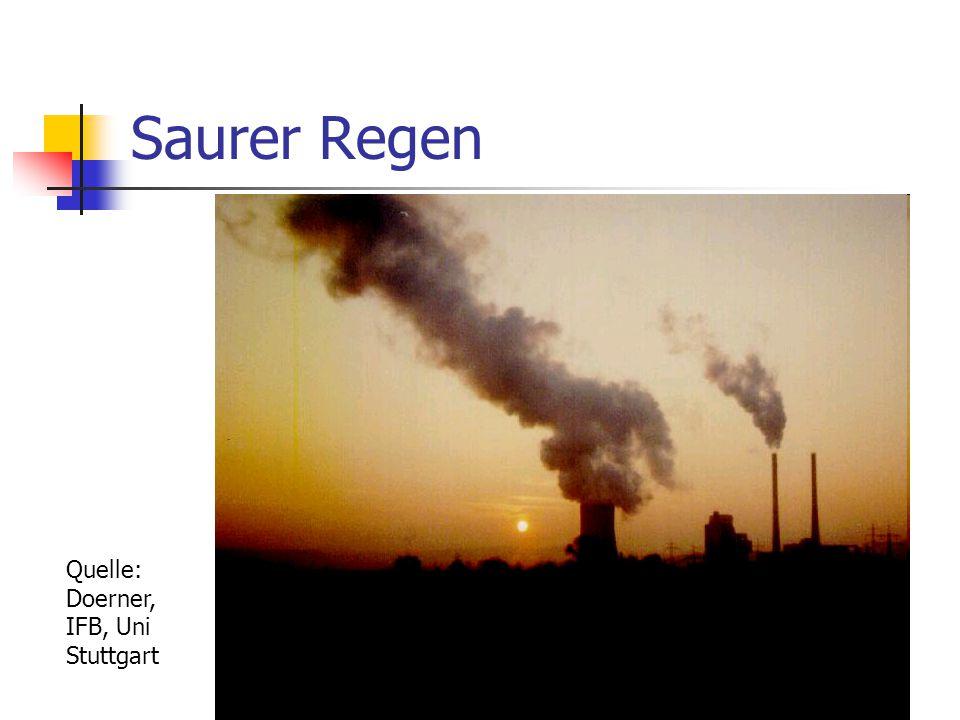 Saurer Regen Quelle: Doerner, IFB, Uni Stuttgart