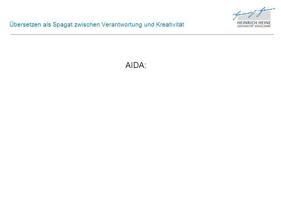 Übersetzen als Spagat zwischen Verantwortung und Kreativität AIDA: Attention Interest Desire Action